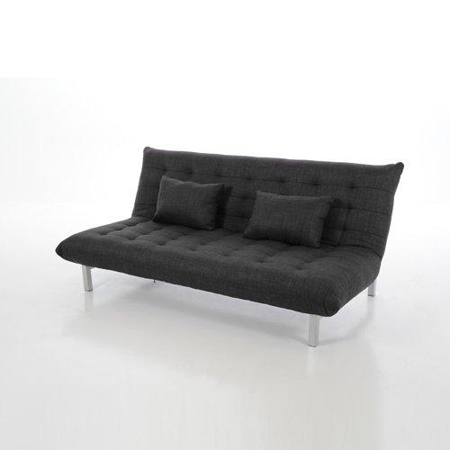 Design 3-Sitzer Schlafsofa/Sofa LAVEZZI, anthrazit, inkl. 2 Kissen