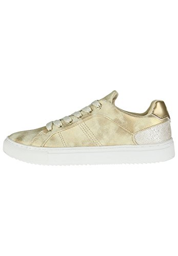 Scarpe Colmar Bradbury Lux 158 donna sneakers gold fashion moda casual satin