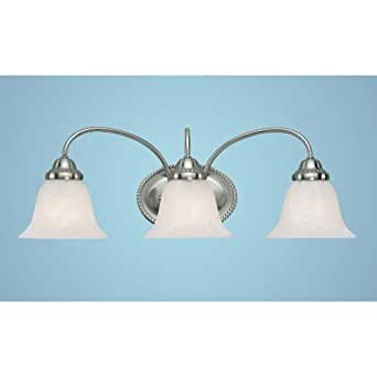 amazon bathroom light fixtures 3 light bath vanity light finish satin nickel vanity 15379