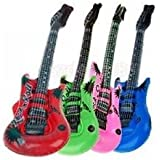 2x 56CM Rock Roll Guitar Inflatable Blow-up Pool Beach Toy Kids Party Favor