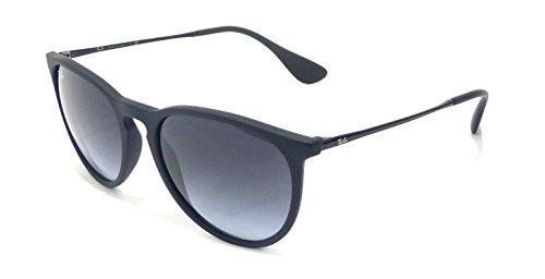 Ray-Ban Women's Erika Round Sunglasses,Non-Polarized,Black Frame/Gray Gradient Lens,54 mm