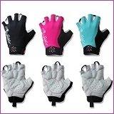 女性用半指サイクルグローブ-簡単愛(ピンク・水色・黒の3色)