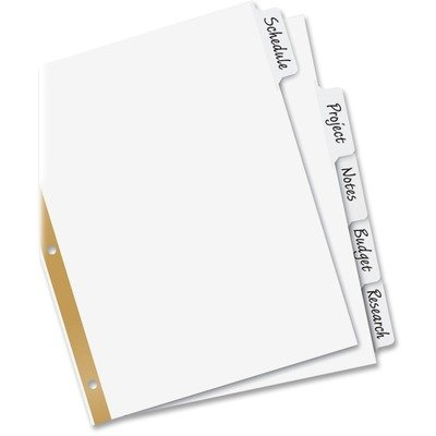 AVE23075 - Avery Big Tab Write-On Divider with Erasable Lami