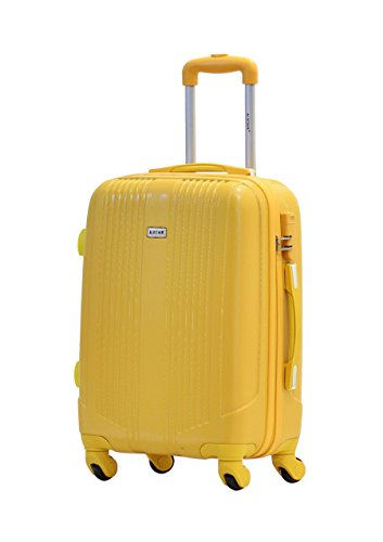 Valise cabine 55cm - Trolley ALISTAIR Airo - ABS ultra Léger - 4 roues - Jaune