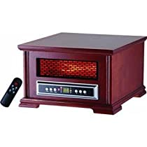 Lifesmart Compact Power Plus 800 Square Feet Infrared Heater w/Wood Cabinet Includes remote