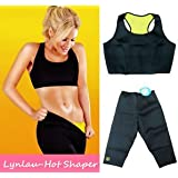 Hot Shapers Sport Slimming Body Suit Burn Fat 2 Pieces Hot Set For Women(L Size)