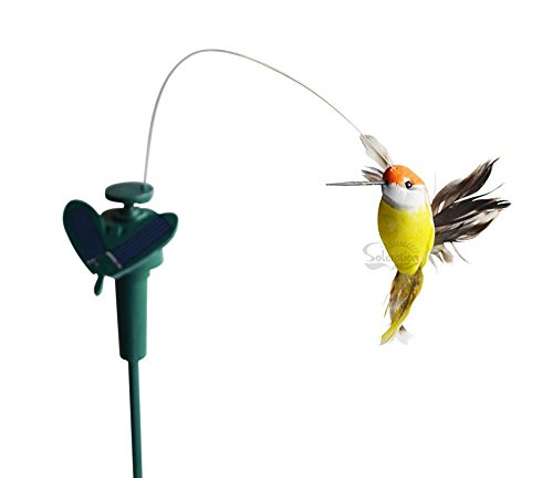 Solar or Battery Powered Fluttering Hummingbird