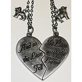 Twilight Movie - Lion and Lamb Broken Heart Necklace Set