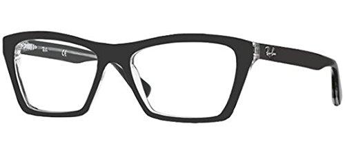 Ray Ban RX5316 Eyeglasses-2034 Top Black On Transparent-53mm