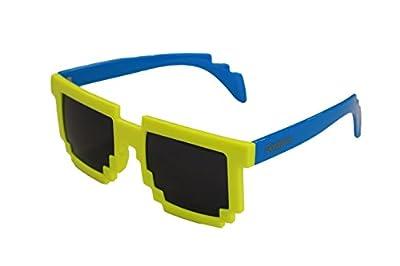 8ビットサングラス【ジェットダイスケ限定モデル/ゴージャス/Gorgeous】8Bit サングラス/8Bit Sunglasses/モザイク/ドットサングラス/メガネ イエロー×ブルー