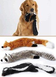 Ethical Plush Skinneeez Fox 24-Inch Stuffingless Dog Toy