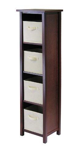 Winsome Verona 4 Section N Wooden Storage Organizer Shelf wi