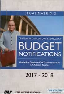 Budget 2017-18- Notifications