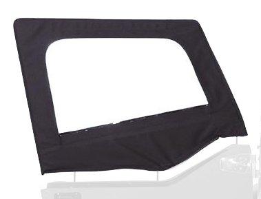 Rampage Jeep 89735 Diamond Black Door Skins for Soft Upper Door
