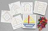 Pegs and Pegboard Set with Pattern Cards Preschool Educational Learning Toy Game