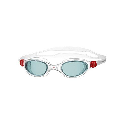 Speedo Futura Plus - Gafas de natación unisex, color rojo / gris, talla única