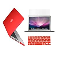 TopCase 3-in-1 Rubberized Hard Case And Keyboard Cover With LCD Screen Protector For Macbook Pro 13-Inch - A1278...