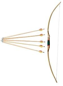 jowiha Pfeil und Bogen Set aus Holz 140 cm für