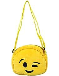 EMOTICON Yellow Colour Sling Bag By JDK NOVELTY (BGSL3951F)