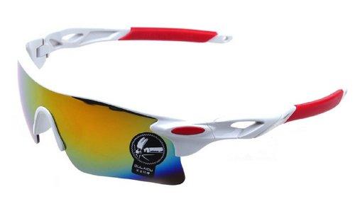 スポーツサングラス + メガネケース + 眼鏡 拭き +偏向 レンズ カード の 4点セット スポーツ サングラス UV400 紫外線カット 防弾 サバゲー 04