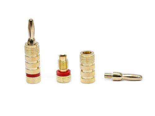 Monoprice 109436 Copper Speaker Banana Plugs Closed Screw Type (5-Pair)