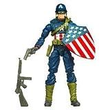 Captain America Movie 4 Inch Series 1 Action Figure Battlefield Captain America WWII