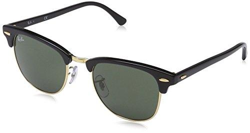 Ray-Ban - Gafas de sol Rectangulares Clubmaster, Black (W0365 Ebony/arista)