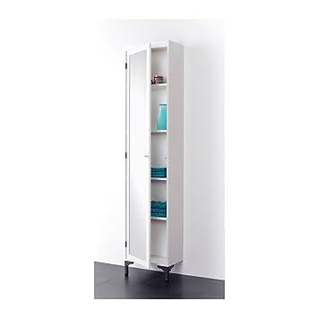Ikea Silveran Haute Armoire Avec Porte Miroir Blanc 40x25x184