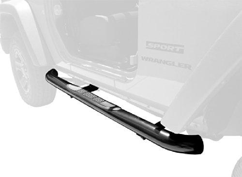 TYGER Custom Fit 2007-2015 Jeep Wrangler JK 2 Door 3″ Black Side Armor Step Nerf Bars Running Boards (Fit 2-Dr Only)