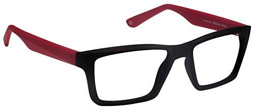 John Jacobs Bold JJ4359 Matte Black Red C2 Wayfarer Eyeglasses(101207)