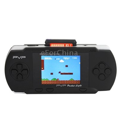 2.7 Inch LCD Display PVP Pocket Game Console With Game Card (Black)