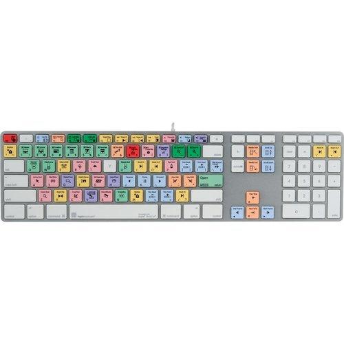 LogicKeyboard Pro Line Apple Final Cut Pro & Express - Extended Ultra-Thin ALU Keyboard - Wired USB