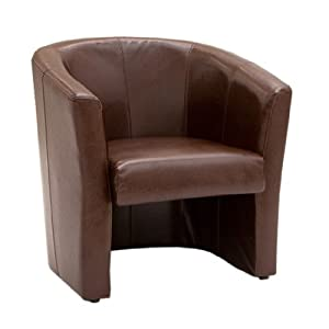 cream leather bucket chair 1 seat leather home or office tub chair black brown cream 13600 | 41%2BDjiDAhRL. SY300
