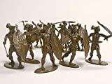 The Zulu War - Zulus at Isandlwana Plastic Army Men: 16 piece set of 54mm Figures - 1:32 Scale