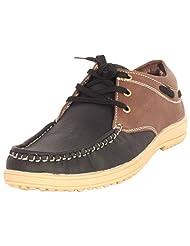 Decent Men's Black & Brown Casual Shoes