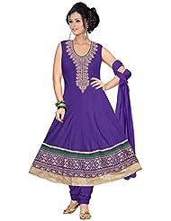 Elan Vital Women's Silk Cotton Anarkali Salwar Suit