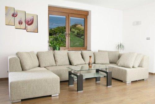 Eckcouch Ecksofa Couchgarnitur SUPERMAX 6 Teile, Wohnlandschaft Big Sofa NEU!!! Lieferzeit 5-10 Werktage, Stoffmusterversand gegen Rücksendung, in diversen Stoffen und Farben ohne Aufpreis erhältlich.