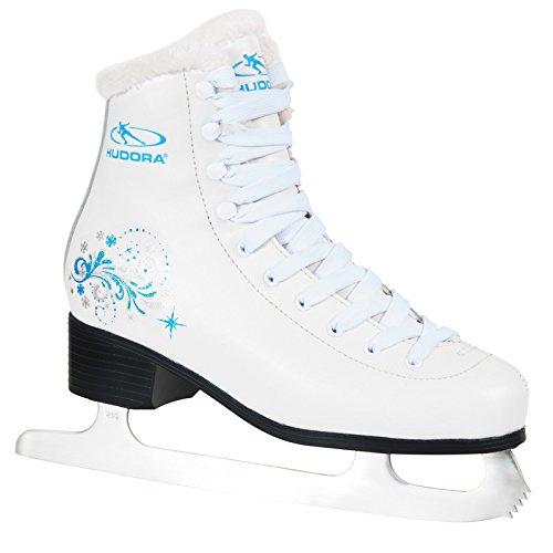 HUDORA Schlittschuhe Elsa Gr. 34 - 42 weiß-blau weiß-blau Eiskunstlauf Eislaufen Eis Eislauf Schlittschuh