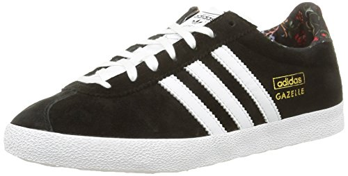 new product 22068 95154 adidas Gazelle OG W - Zapatillas para mujer, color negro   blanco   dorado,
