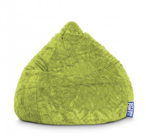 MAGMA Sitzsack Fluffy XL grün