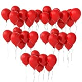 Syeer 100 pcs Balloons 10 Inch Thick Latex Kids Boy Girl Children Party Activity Campaign Events Celebrations Promotions Balloons Red