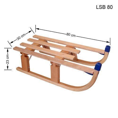 Schlitten Rodel Klappschlitten Holzschlitten Klappbar Schlitten 80 cm LSB 80