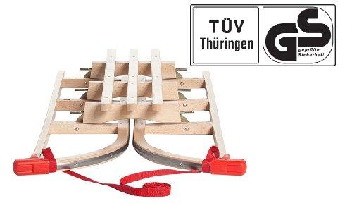 Impag® Klappschlitten mit Zuggurt und Lehne Yaro 115 cm lang -