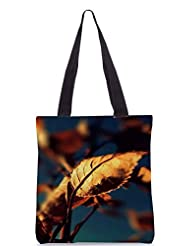 Snoogg Autumn Leaves Poly Canvas Tote Bag