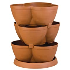 Akro-Mils RZJMEDI Medium Stack-A-Pot 30-Quart