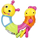 Vibgyor Vibes™ Lovely Worm/Caterpillar Formative Education Rattle Toys For Baby/Toddler/Infant/Child . Pack Of 1