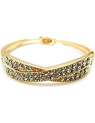 NiX Valentine's Day Gift 18k Gold Plated Austrian Crystal 2.5 Inch Bracelet For Women