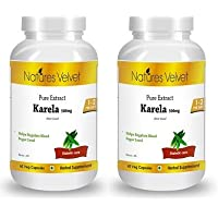 Natures Velvet Combo Of Karela Pure Extract (500 Mg), 60 Veggie Capsule(s)