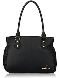 Fantosy Gold Black Handbag(FNB-352)