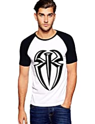Catch5 Roman Reign Plain WWE Round Neck Raglon Tshirts For Men
